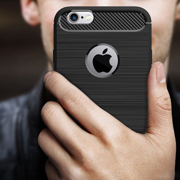 iphone hoesje - shockproof carbon