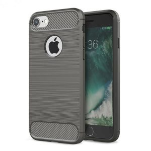 iphone hoesje grijs - tpu carbon