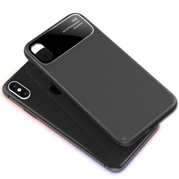 zwarte iPhone X cover