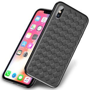 iPhone X hoesje gevlochten zwart