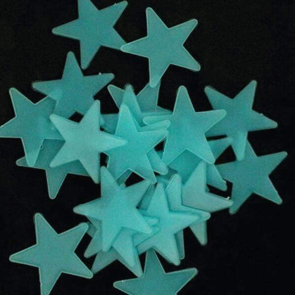 sterrenhemel kinderkamer glow in the dark blauw
