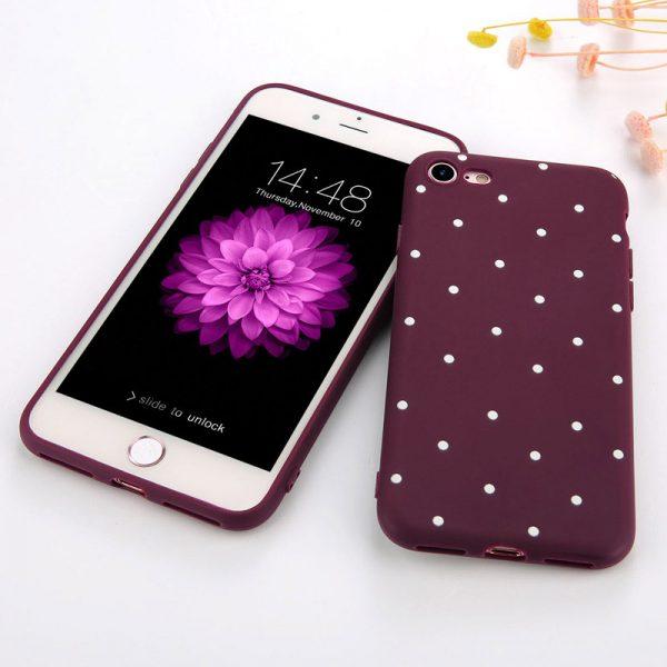 iPhone 7 / 8 hoesje rood stippen