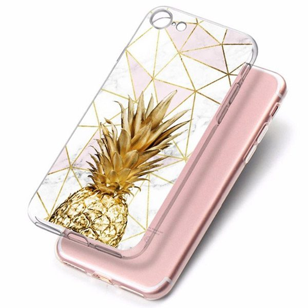 Galaxy S9 Cover Ananas Goud