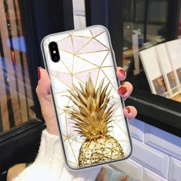 Galaxy S9 Case Ananas Goud