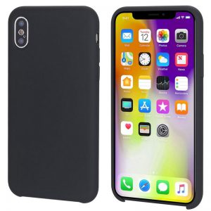 Zwart iPhone X / Xs hoesje siliconen