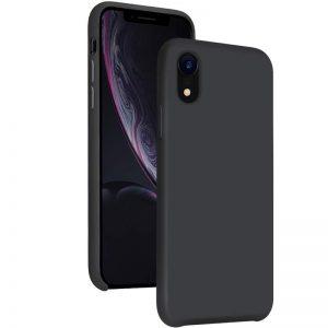 Zwart iPhone Xr Siliconen hoesje