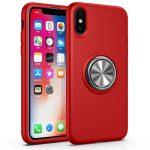 Rood iPhone X / Xs hoesje met ring