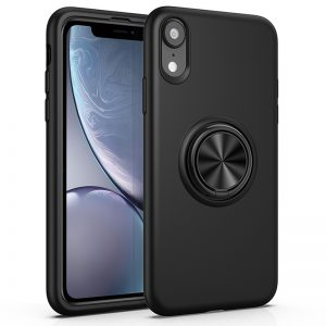 Zwart iPhone Xr hoesje met ring