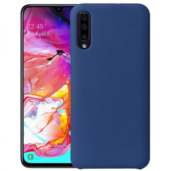Galaxy A50 siliconen hoesje blauw
