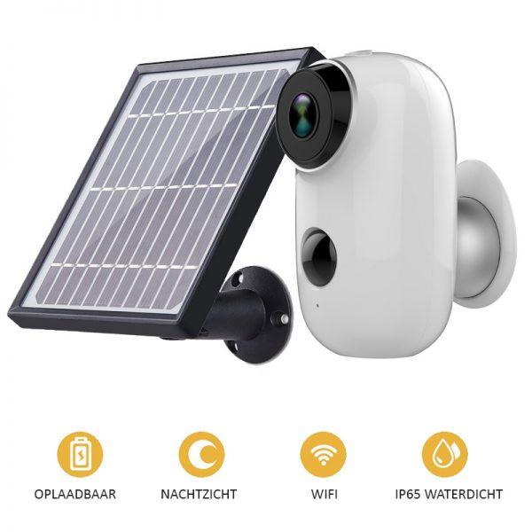 beveiligingscamera draadloos solar zonne-energie hd
