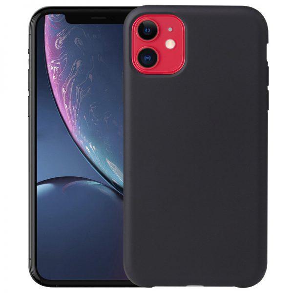 iPhone 11 Siliconen Hoesje Zwart